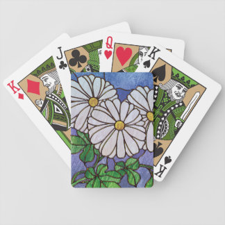 Shasta Daisies Stained Glass Look Bicycle Card Deck