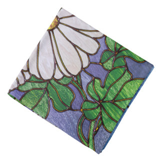Shasta Daisies Stained Glass Look Do-rags
