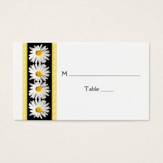 Shasta Daisy Black Gold Wedding Place Cards
