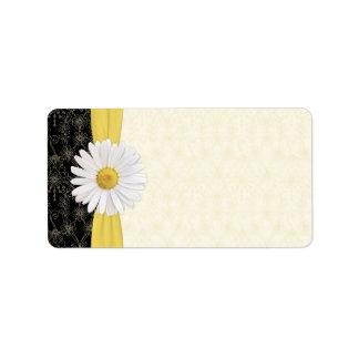 Shasta Daisy Floral Wedding Blank Address Labels