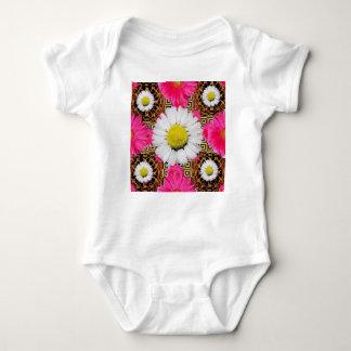 Shasta Daisy & Pink Gerbera Gifts Baby Bodysuit