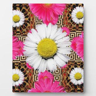 Shasta Daisy & Pink Gerbera Gifts Plaque