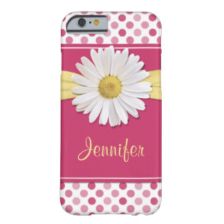 Shasta Daisy Pink Polka Dot iPhone 6 case Barely There iPhone 6 Case