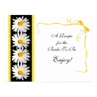 Shasta Daisy Recipe Card for the Bride to Be
