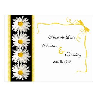 Shasta Daisy Save the Date Postcard