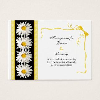 Shasta Daisy Wedding Reception Card