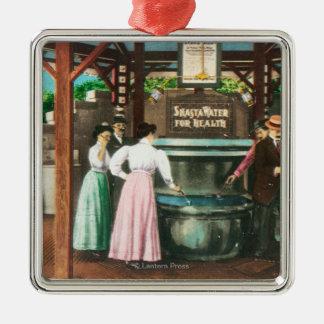 Shasta Water Drinking Fountain Scene Ornament