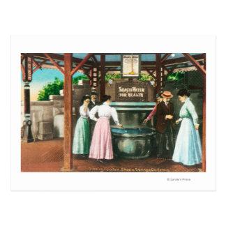 Shasta Water Drinking Fountain Scene Postcard