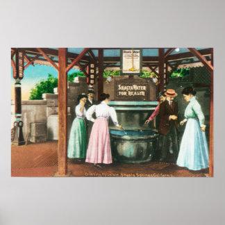 Shasta Water Drinking Fountain Scene Poster