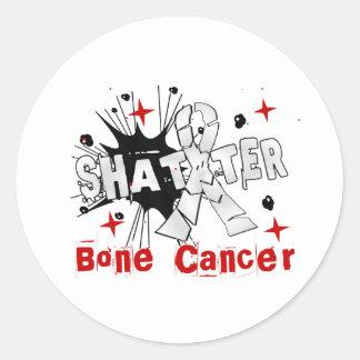 Shatter Bone Cancer Round Sticker