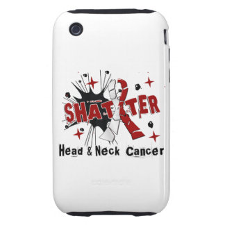 Shatter Head Neck Cancer iPhone 3 Tough Cases