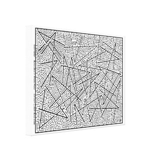 Shattered - An Amazing Maze by Blaise! Canvas Print