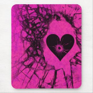 Shattered Broken Heart Gothic Mousepad