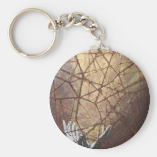 Shattered Glass and Sunlight Key Ring