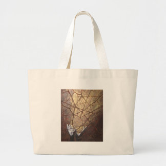 Shattered Glass and Sunlight Large Tote Bag
