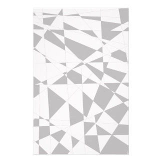 Shattered Life in Black & White Customized Stationery