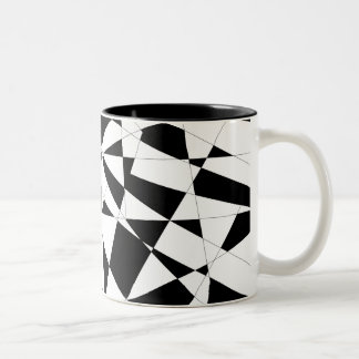 Shattered Life in Black & White Two-Tone Coffee Mug