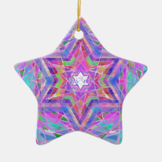 Shatters crystal star. ceramic star decoration