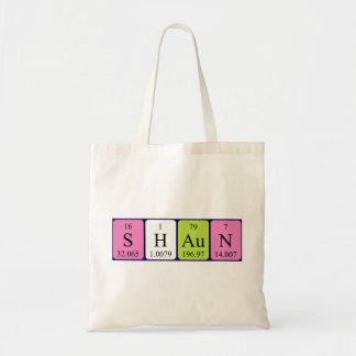 Shaun periodic table name tote bag