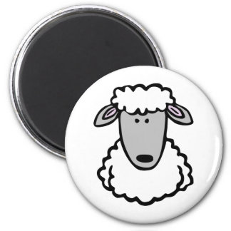 Shaun the Sheep Cute Cartoon Animal 6 Cm Round Magnet