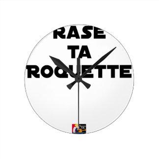 SHAVE MT ROCKET - Word games - François Ville Round Clock