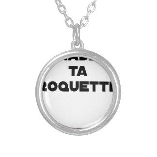 SHAVE MT ROCKET - Word games - François Ville Silver Plated Necklace
