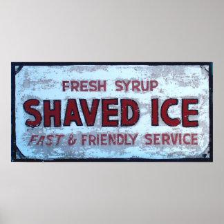 Shaved Ice Vintage sign Poster