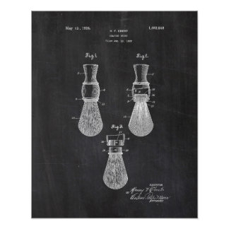 Shaving Brush Patent Poster