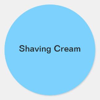 Shaving Cream Labels/ Classic Round Sticker