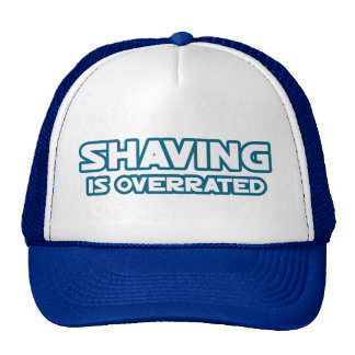 Shaving is Overrated, grow a Mustache Mesh Hat