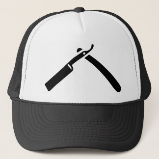 Shaving razor trucker hat