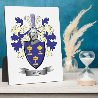 Shaw Family Crest Coat of Arms Plaque