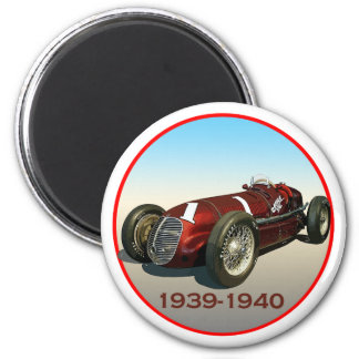 Shaw Maserati 8CTF Indy Car 6 Cm Round Magnet