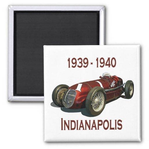 Shaw Maserati 8CTF Indy Car Fridge Magnets