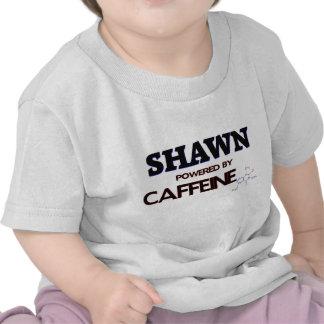 Shawn powered by caffeine shirt