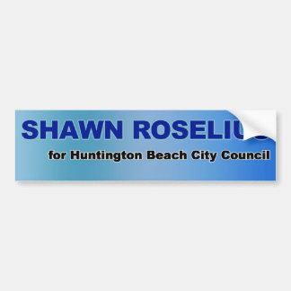 Shawn Roselius for HB Council Bumper Sticker Car Bumper Sticker