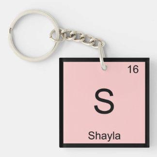 Shayla Name Chemistry Element Periodic Table Key Ring
