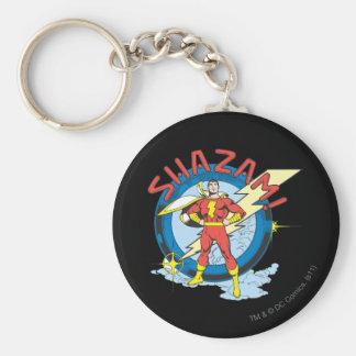 Shazam Basic Round Button Key Ring