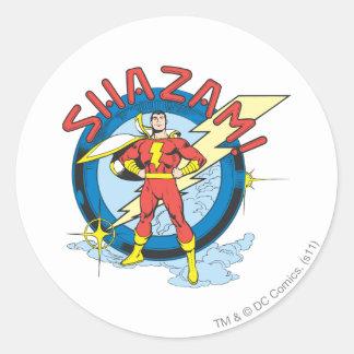 Shazam Classic Round Sticker