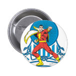 SHAZAM in Fight Stance 6 Cm Round Badge