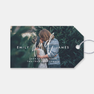 She and Him | Save the Date Thank You Gift Tags