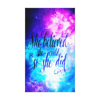 She Believed in Creation's Heaven Canvas Print