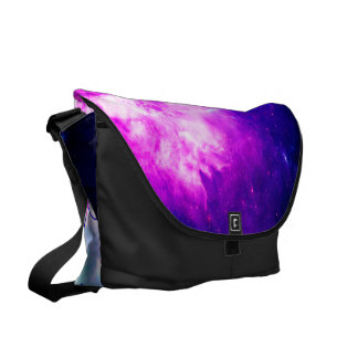 She Believed in Creation's Heaven Messenger Bags