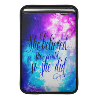 She Believed in Creation's Heaven Sleeve For MacBook Air