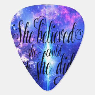 She Believed in Iridescent Skies Guitar Pick