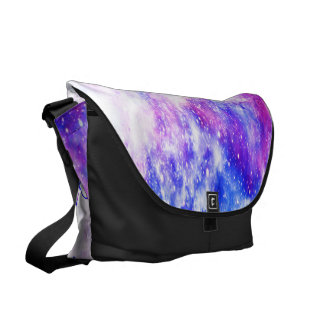 She Believed in Rainbow Universe Messenger Bags