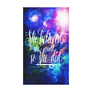 She Believed in Stairway to the Skies Canvas Print