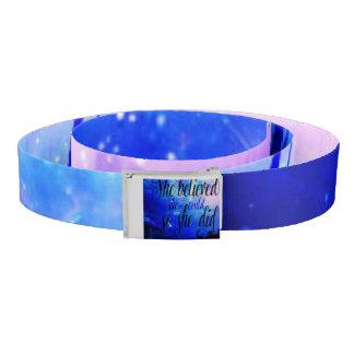 She Believed in Starry Nights Belt