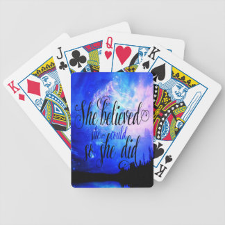 She Believed in Starry Nights Bicycle Playing Cards