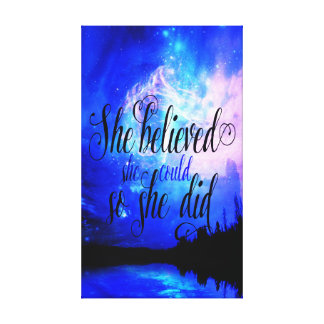 She Believed in Starry Nights Canvas Print